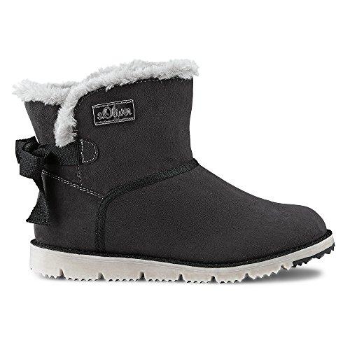 s.Oliver Damen Winter-Boots Grau Textil 37