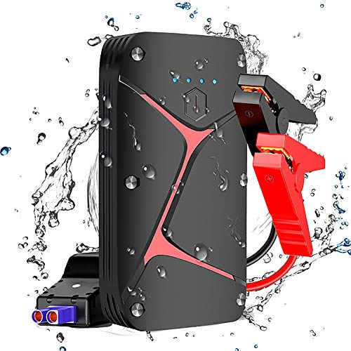 Review WSJMJ Car Jump Starter Power Pack, Up to 5L Mini Emergency Spare Auto Battery Charger and 120...