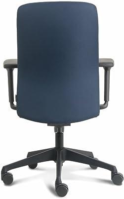 Euroseats Vigo Silla de Oficina Azul Tejido, Azul/Negro