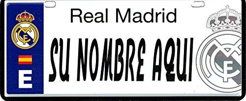 Real Madrid FC Matrícula Personalizable con Nombre - 6 x 14 ...