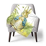 NDSXTLCA Peter Rabbit Personalized Baby Blanket for Baby -Newborn or Infant Gift 3040Inch
