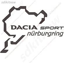 15cm Nurburgring Sports Racing Windows Door Body PVC Decal Car Styling for Renault Dacia Duster Logan Sandero Lodgy Accessories Black
