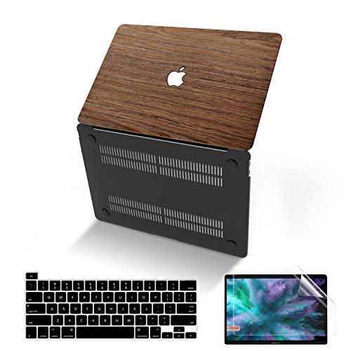 MacBook Pro 13 Zoll Hülle 2020 2019 2018 2017 2016 Release A2338 M1 A2251 A2289 A2159 A1989 A1706 A1708, Anban Slim Wood Hard Corner Schutzhülle kompatibel mit Mac Pro 13 Mit Touch-Bar