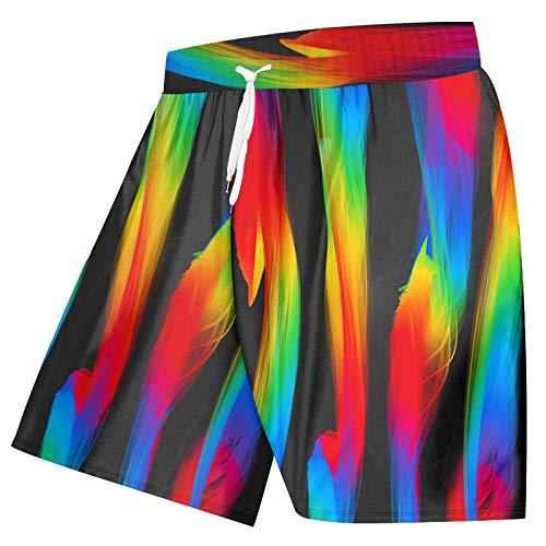 Short Homme Hommes 3D Imprimer Peinture Rayure Gradientshorts Fitness Respirant Séchage Rapide Hommes Pantalons Relax Casual Shorts-Paint_XXL