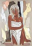 Posterazzi PDXGE5170SMALL La Serviette Pierre Farel Poster Print, 18 x 24, Multicolor