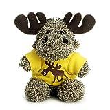 Bear of Allan Plush Keychain Stuffed Animal - Cute Dressed Small Moose Keyring Charm Backpack Clip Handbag Pendant Super Soft Plush 4 Inch