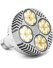 CFGROW Led-plantenlamp, volledig spectrum, E27 plantenlamp, wit, voor kamerplanten, kassen, binnentuinen, hydrocultuur