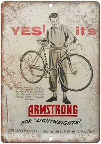 Todghrt Armstrong Fahrrad-Werbeschild aus Aluminium, 30,5 x 40,6 cm