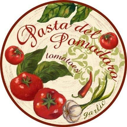 Placa de metal redonda de 12 x 12 pulgadas, estilo retro para decoración de pared de jardín vintage de granja, tomate, ajo, chile, etc.