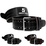 """ProFitness Weightlifting Gym Belt 4"""" Wide Belt Comes (Black/White, Small)"""