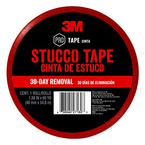 Scotch Stucco Tape, 1.88 inches by 60 yards, 3260, 1 roll