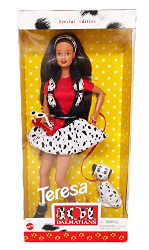 1997 Disney's 101 Dalmations Teresa Barbie Doll with Dalmation Special Edition