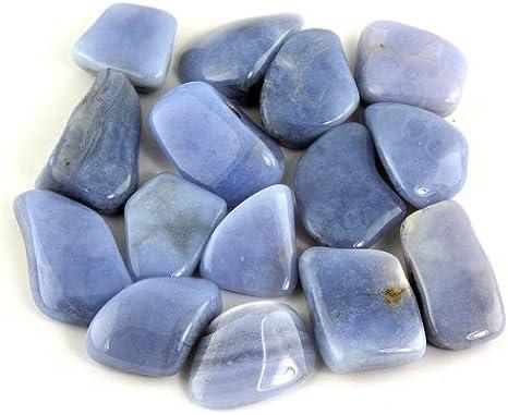5 x Blue Lace Agate XL Tumblestones 35mm-45mm A Grade Crystal Bulk Wholesale