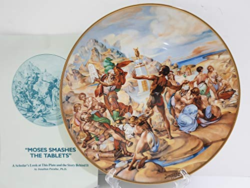 Royal Cornwall Moses Smashes The Tablets by Artist Yiannis Koutsis Collector Plate 11 of The Bible Series The Promised Land