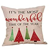 XCNGG Funda de almohada Funda de cojín de almohada para el hogar Ropa de cama 2020 Multiple Styles for Boys or Girls Lovely Boy Sofa Cushion Cover Decorative Pillowcases Christmas Eve Room Sofa Car De