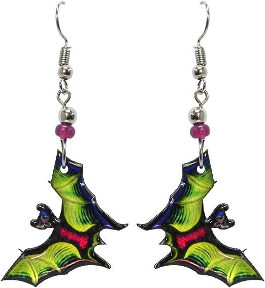 Halloween Bat Dangle Earrings Earings Halloween Party Earrings  Costume Party Earrings  Womens Earrings Jewellery Jewelry