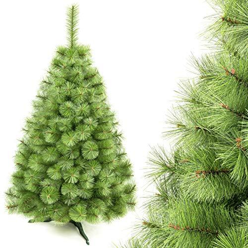 AmeliaHome 07843 220 cm Künstlicher Kiefernadel Weihnachtsbaum PVC Tannenbaum Christbaum Kiefer Frannie Weihnachtsdeko