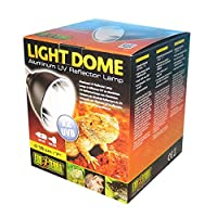 Compact size dome Extra deep, polished reflector dome Increases uvb output by up to 100 percent With on, off switch and 180 cm power cord, with ceramic socket There is no clamp included