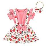 MRULIC Baby Mädchen Outfits Kleidung Bowknot Weste Tops + Plaid Shorts Hosen Sets Anzug 1-6 Jahre(X3-Rot,100)