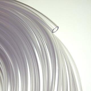 WilTec Tuyau en PVC 8 x 1,0 mm dans Une qualit/é Alimentaire Transparent Flexible Marchandise au m/ètre