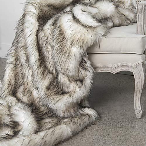 %7 OFF! Best Home Fashion Heavyweight Super Soft Luxury Faux Fur Oversized Throw Blanket - 58 W x 8...