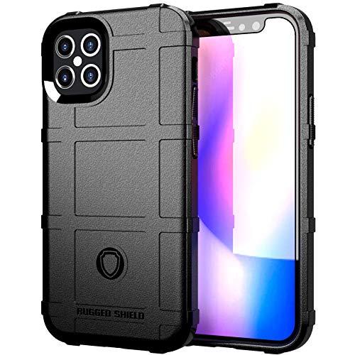 Riyeri Funda Apple iPhone 12 Pro Case [2020] Ultrafina Antigolpes Anti-Arañazos Carcasa con Soporte iPhone 12 Pro Bumper Carcasa Híbrida Antigolpes Resistente (Negro)