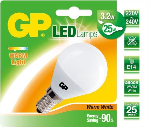 GP Lighting LED-Lampe Mini Globus, E14, 3.2Watt 740MGL3.2E14C1