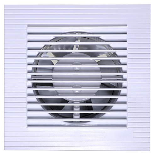 Ventilación Extractor Ventilador De Escape Cuadrado Dormitorio De Ventilador Silencioso Ventilador De Pared Lateral Volumen De Aire: 130m3 / H, Velocidad: 2400r / Min, Ruido: 34 DB