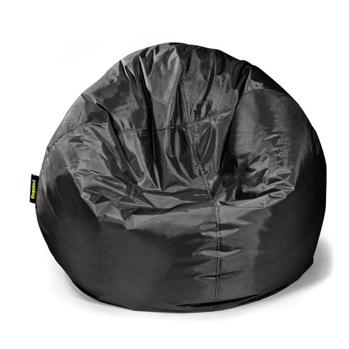 Pushbag Sitzsack BAG 300 in Kunstleder, 90x70cm, 300l, black