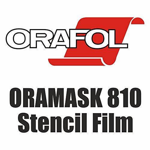 ORAMASK 810 (5,15€/m²) Airbrush Schablonenfolie Maskierfolie Folie 5m x Breite nach Wahl (25cm x 500 cm)