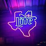 Desung New 20'x16' Miller Lite Cowboys Hat Texas Neon Sign (Multiple Sizes Available) Man Cave Sports Bar Pub Beer Glass Neon Light Lamp CX185