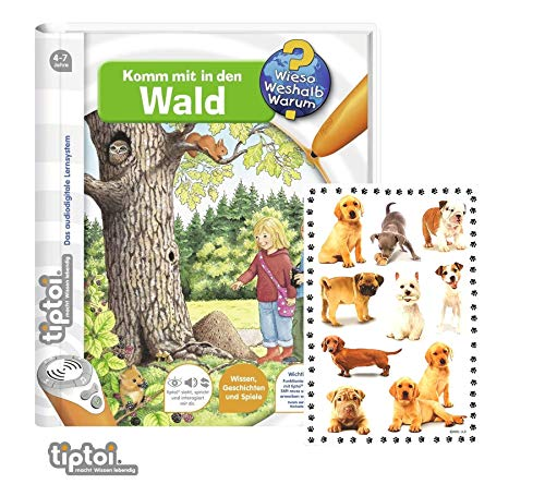 tiptoi Ravensburger Buch - Komm mit in Den Wald + Tier-Sticker