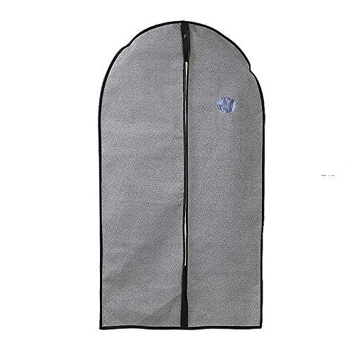 YLiansong-home Dustproof Clothes Covers Full Zipper Garment Bags Set Of 6 PEVA Clear Fabric Garment Bags Suit Bag Moth Proof Coat Bag (Color : Gray, Size : L+M)