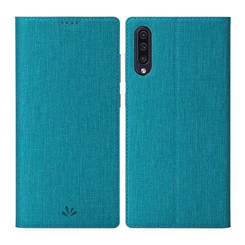 Eastcoo Galaxy A50 / A30s Tasche,Premium Leder Geldbörse Tasche mit [Magnetic Cloure][Kartenhalter][ID Holder][TPU Bumper] Stoßfest Schutzbrieftasche Flip Tasche für Samsung Galaxy A50/A30s(A50,Blau)