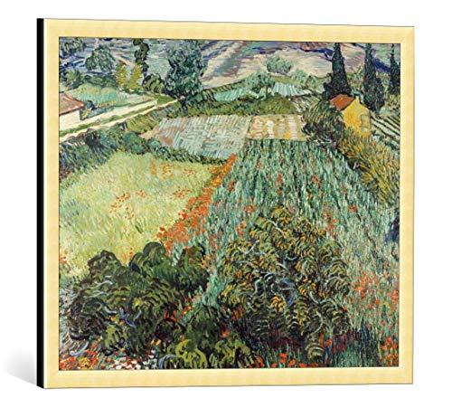 Kunst für Alle Cuadro con Marco: Vincent Van Gogh Feld mit