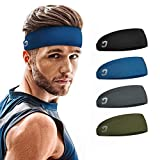 Vinsguir Sports Headbands for Men and Women (4 Pack) - Sweat Band...