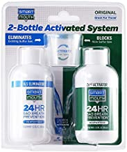 SmartMouth Original Mouthwash 3.3oz 2-Bottle Activated System for 24-Hour Bad Breath Protection