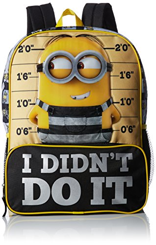 Despicable Me Boys' Big Despicableme Backpack Ididntdoit, Black, 16 Inches