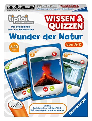 Ravensburger tiptoi 00083 Wissen und Quizzen: Wunder der Natur, Quizspiel für Kinder ab 6 Jahren, für 1-6 Spieler