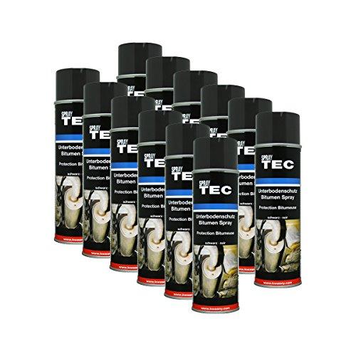 12x KWASNY 235 500 Auto-K Spray TEC Unterbodenschutz Bitumen schwarz 500ml