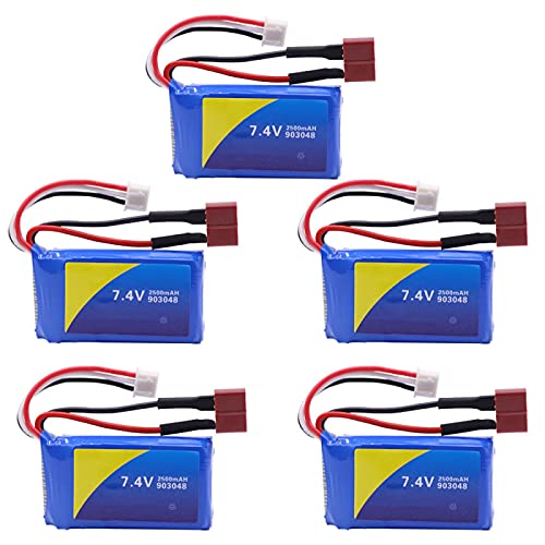 Batería para WLtoys A959-B A969-B A979-B K929-B RC Coches de Juguete Drone repuestos 7,4 V 2500 mah batería lipo para Juguete RC 5PCS