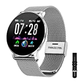 TB11 Smartwatch Bluetooth IP68 Pulsera Inteligente Impermeable Reloj Movil HD Touch Screen Fitness Tracker Compatible con Android y iOS para Hombres Mujeres
