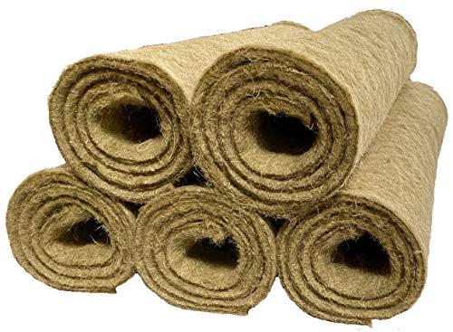 Nager-Teppich aus 100 % Hanf, 120 x 60 cm 10 mm dick, 5er Pack (EUR 7,99/Stück), Nagermatte geeignet als Käfig Bodenbedeckung z.B. für Kaninchen, Meerschweinchen, Hamster, Degus, Ratten und andere Nagetiere.