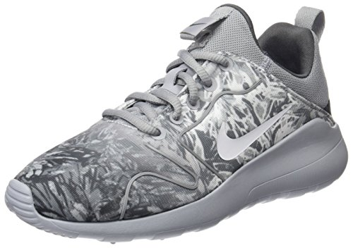Nike Damen WMNS Kaishi 2.0 Print Laufschuhe, Gris (Gris (Wolf Grey/White-Dark Grey), 38 EU