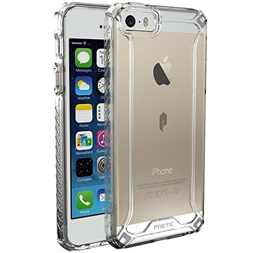 iPhone SE Case, iPhone 5S Case, iPhone 5 Case, POETIC Affinity Series Premium Thin/No Bulk/Slim fit/Clear/Dual Material Protective Bumper Case for Apple iPhone SE Frosted Clear/Clear