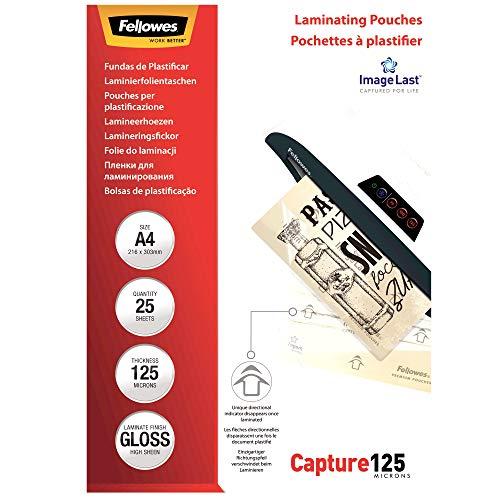 Fellowes 53963 - Pack de 25 fundas de plastificar