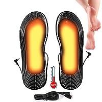 🔥Beheizbare Einlegesohlen🔥Nie mehr kalte Füße! Elektrisch Fußwärmer von Lyeiaa halten die Füße bei kaltem Wetter warm, hochwertige beheizbare Einlegesohlen mit Kohlefaser Heizdraht, große Heizfläche, gleichmäßige Wärmeverteilung. Hochwertiges Sohlenm...