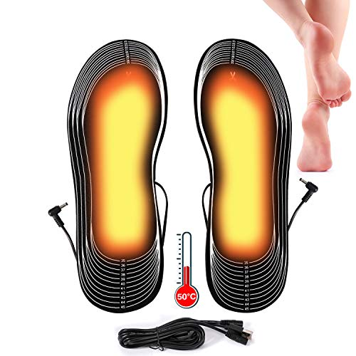 Lyeiaa USB Insoles Heated Insoles Thermal Soles Foot Warmers USB Winter...