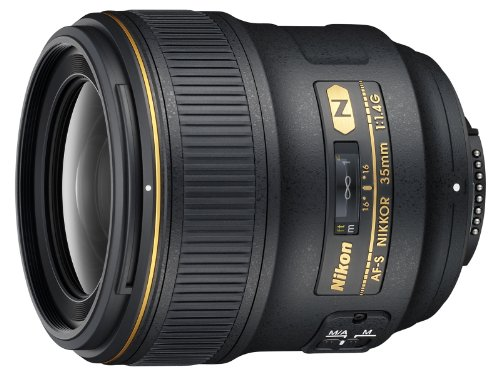 Nikon AF FX NIKKOR 35mm f/1.4G Fixed Focal Length Lens with Auto Focus for Nikon DSLR...