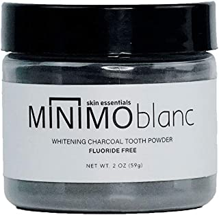 Minimo Bath and Body Blanc Activated Charcoal Tooth Powder Peppermint Flavor